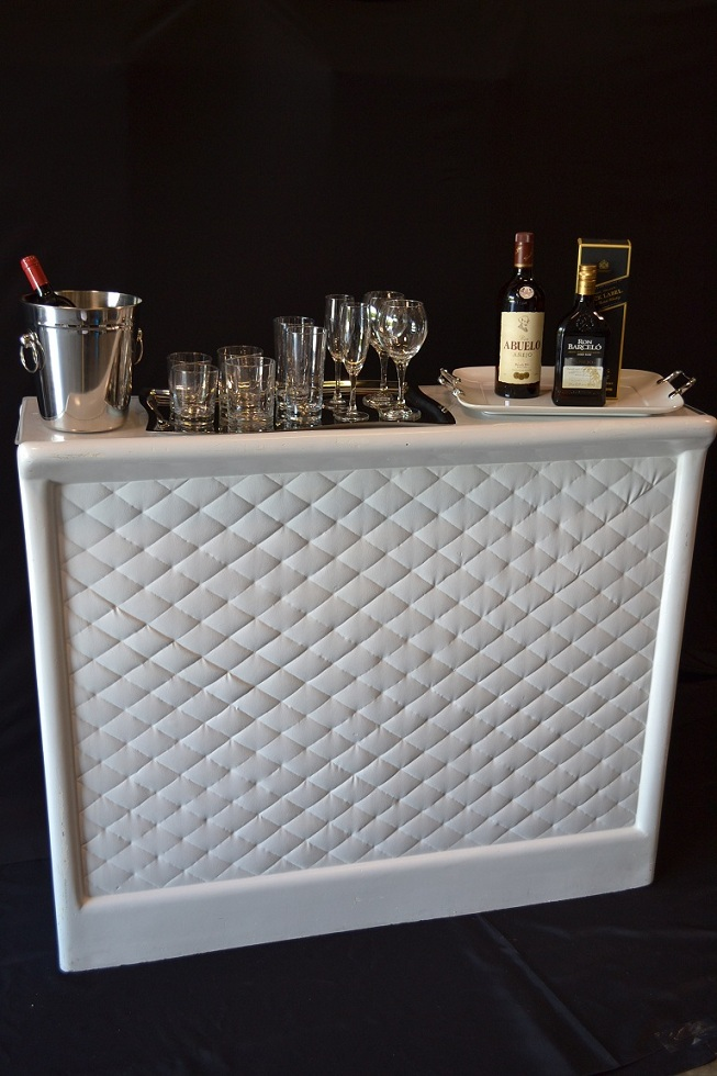 Portable White Bar With Shelf Superior Party Rentals